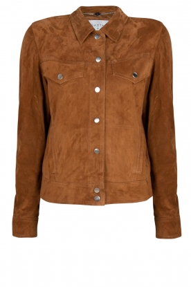 Dante 6 | Suede fringe jacket Dallan | brown