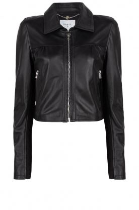 Dante 6 | Leather cropped jacket Leavitt | black