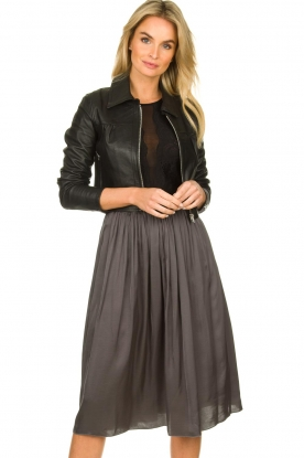 Dante 6 |  Leather cropped jacket | black