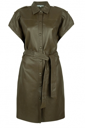 Dante 6 |  Leather dress with drawstring Voodoo | green