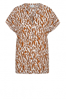 Dante 6 | Printed top Prim | brown