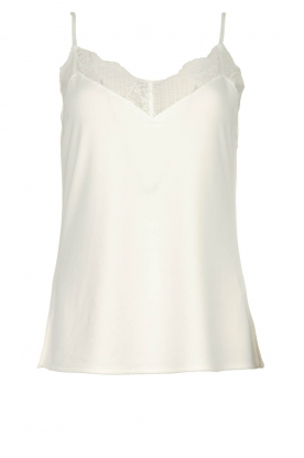 Dante 6 |  Sleeveless top with lace Aviana | white