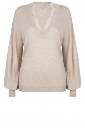 Dante 6 |  V-neck sweater Lizeth | natural