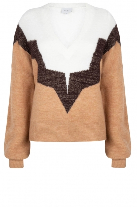 Dante 6 |  Colourblock sweater Savoir | brown