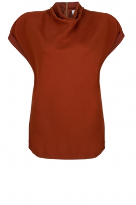 Dante 6 | Draped collar top Mason | brown
