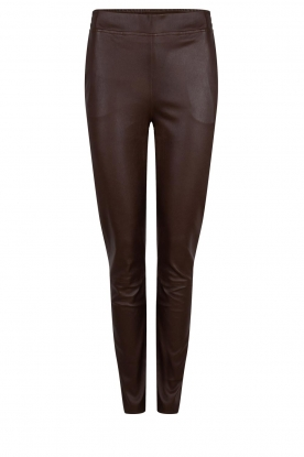 Dante 6 |  Leather pants Lebon | brown
