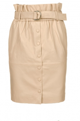 Dante 6 |  Leather paperbag skirt Courci  | natural