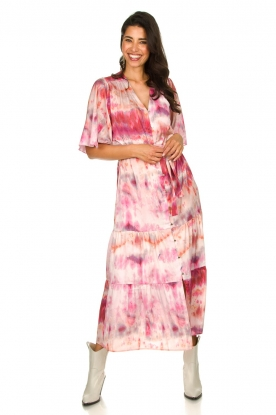 Dante 6 |  Tie dye midi dress Avar | pink