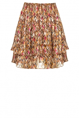 Dante 6 |  Printed ruffle skirt Wonderous | brown