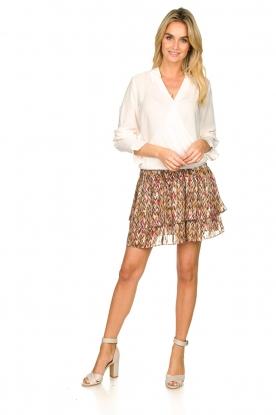 Dante 6    Printed ruffle skirt Wonderous   brown