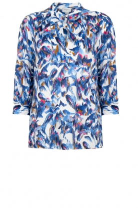 Dante 6 | Waterprint blouse Reign | blauw