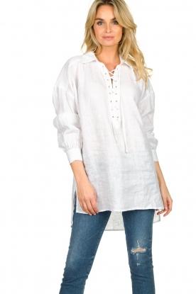Dante 6 |  Tunic blouse Giada | white