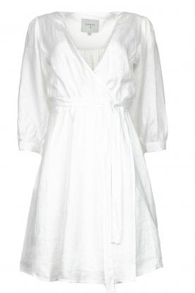 Dante 6 |  Linen wrap dress Leloutre | white