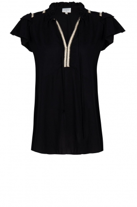 Dante 6 |  Blouse with embroidered details Bridger | black