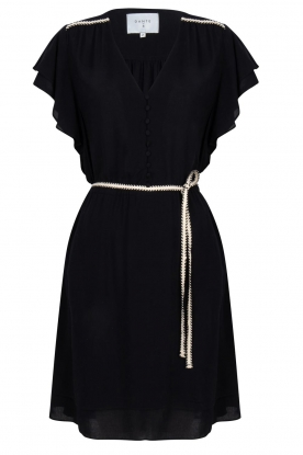 Dante 6 |  Dress with belt | black