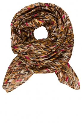 Dante 6 |   Scarf with print Get lucky |  black