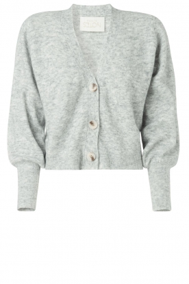 Notes Du Nord |  Puff sleeve cardigan Ozone | grey