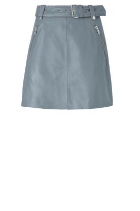 Notes Du Nord |  Leather skirt Magnolia | blue