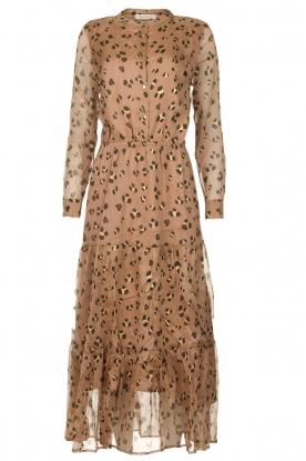 Sofie Schnoor | Maxi jurk met print Abbi | beige