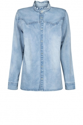 Sofie Schnoor |  Denim blouse Silke | blue
