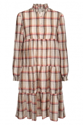 Sofie Schnoor |  Checkered dress Melena | beige