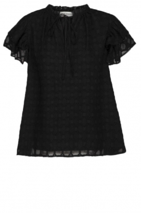 Sofie Schnoor | Blouse with ruffles Seraphina | black
