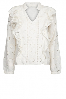 Sofie Schnoor |  Embroidered blouse Rose | white