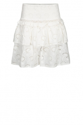 Sofie Schnoor |  Embroidered skirt Rosemarie | white