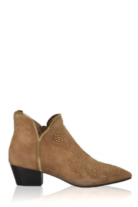 Sofie Schnoor |  Suede studded ankle boots Vally | beige