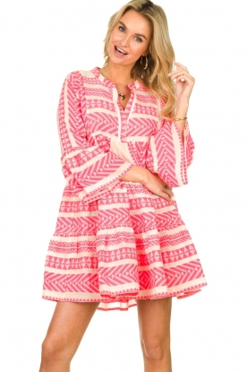 Devotion |  Cotton print dress Georgina | pink