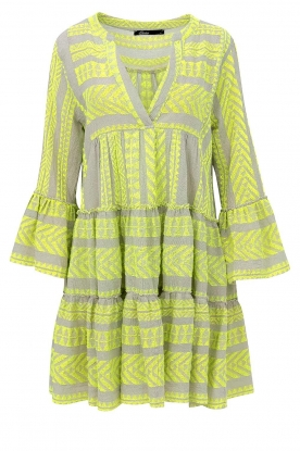 Devotion |  Cotton print dress Georgina | yellow