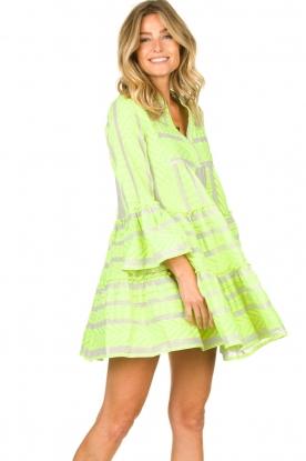 Devotion |  Cotton print dress Georgina | yellow