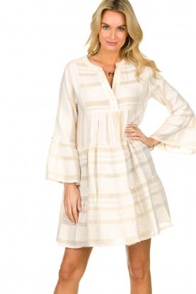 Devotion    Cotton print dress Georgina   natural