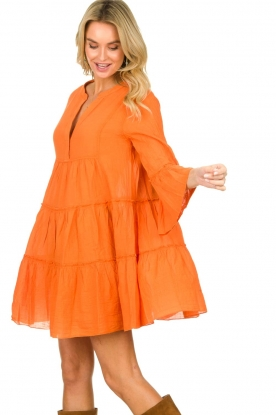 Devotion |  Cotton dress Rosaline | orange