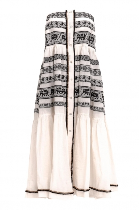 Devotion |  Cotton printed maxi skirt Coss | natural