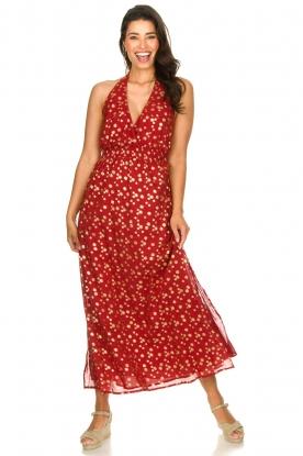 Sundress    Cotton lurex maxi dress Hailey   red