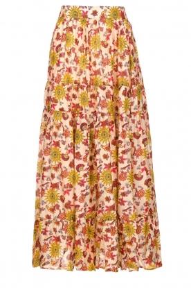 Sundress    Maxi print skirt Ruby   red
