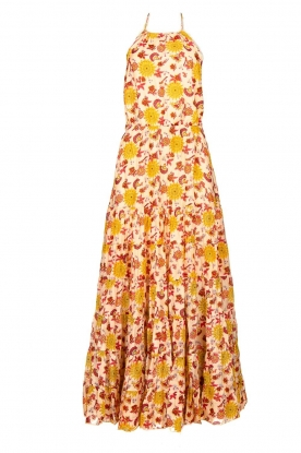 Sundress |  Printed maxi dress Neptune | pink