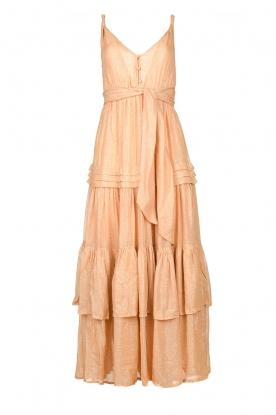 Sundress |  Lurex maxi dress Calypso | nude