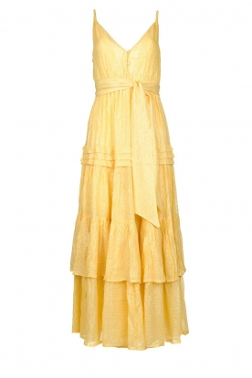 Sundress |  Lurex maxi dress Calypso | yellow