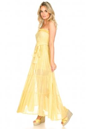 Sundress |  Strapless lurex dress Jonquille | yellow