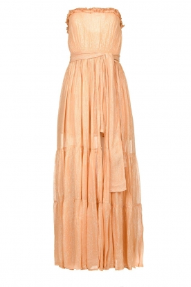 Sundress |  Strapless lurex dress Jonquille | nude