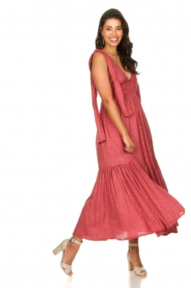 Sundress |  Sequin maxi dress Fanya | pink