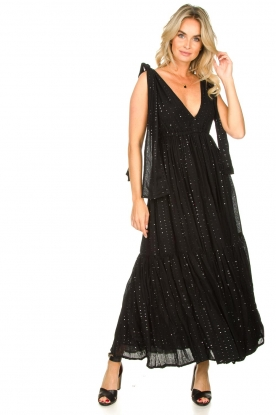 Sundress |  Sequin maxi dress Fanya | black