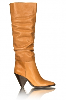 Toral |  Take off boots Lady top | camel