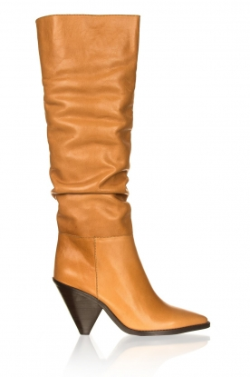 Toral |  Leather boots Lady Top | camel