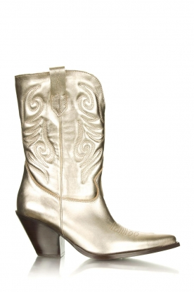 Toral |  Western metallic boots Bambi | gold