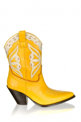 Toral |  Leather cowboy boots Savanah | yellow
