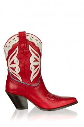 Toral | Leather cowboy boots Savanah | red