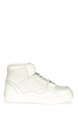 Toral |  High leather sneakers Gesso Lakers | white